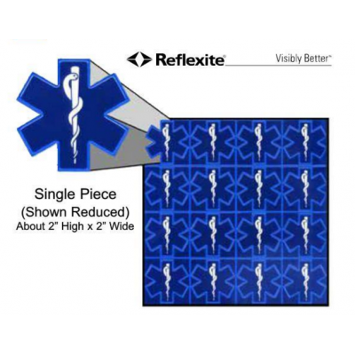 Die Cut Reflexite Star of Life