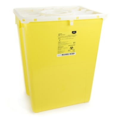 Chemotherapy Sharps Container 20.8H X 17.3W X 13L Inch 12 Gallon