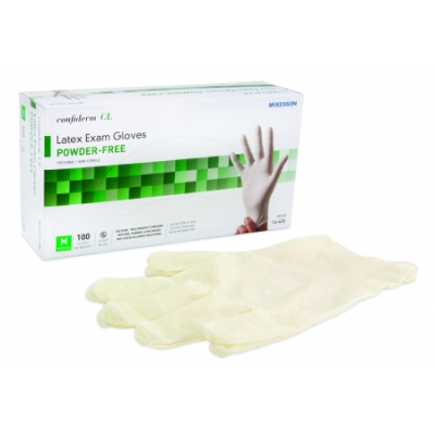 Confiderm™ NonSterile Powder Free Latex Ambidextrous Gloves 100 Pk