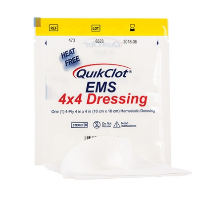 QuikClot EMS Dressing, 4inch x 4inch