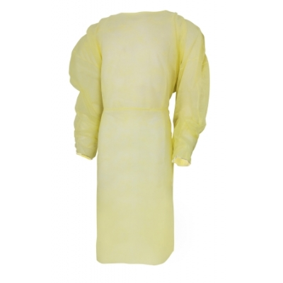 Fluid-Resistant Isolation Gown Elastic Cuff Adult Disposable 10 pack