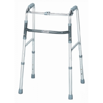 Single Release Folding Walker Adult Aluminum 300 lbs. 32 to 36 Inch