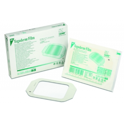 Transparent Film Dressing 3M™ Tegaderm™ Rectangle 1 3/4 X 1 3/4 Inch