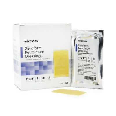 Xeroform Petrolatum Dressing Gauze Bismuth Tribromophenate 1 X 8