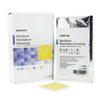 Xeroform Petrolatum Dressing Gauze Bismuth Tribromophenate 2 x 2