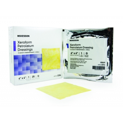 Xeroform Petrolatum Dressing Gauze Bismuth Tribromophenate 4 x 4