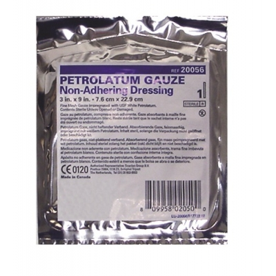 Petrolatum Impregnated Dressing 3 X 9 Gauze USP White Petrolatum