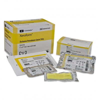Petrolatum Dressing Xeroform® 4 x 4 Gauze Bismuth Tribromophenate