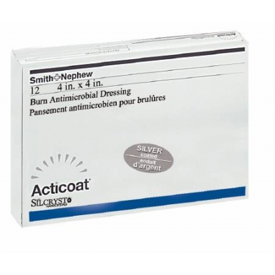 Antimicrobial Barrier Dressing Acticoat Burn 4 X 4 Inch Sterile