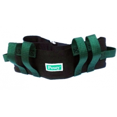 Gait Belt 55 Inch Green& Black Nylon with Handles 55