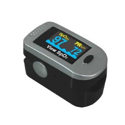 Finger Pulse Oximeter View SpO2 Battery Operated