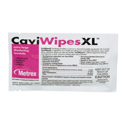 Surface Disinfectant CaviWipes™ Wipe 25 Count Individual Packet
