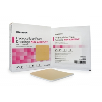 Foam Dressing 6 x 6 Inch Square Non-Adhesive without Border Sterile