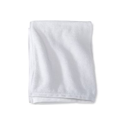 Hospital Bath Towel 22 X 46 Cotton 86 Polyester 14 White Reusable