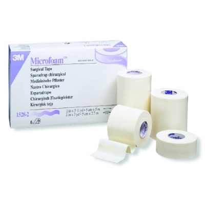 Medical Tape 3M™ Microfoam™ Water Res Foam Acrylic Adhesive 5-1/2 Yard