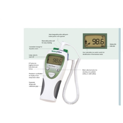 Digital Thermometer SureTemp® Plus Rectal Probe Hand-Held
