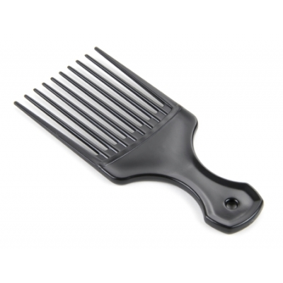 Mini Hair Pick 5.3 Inch Black Polypropylene