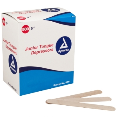 Tongue Depressors Junior 5 1/2 L Length