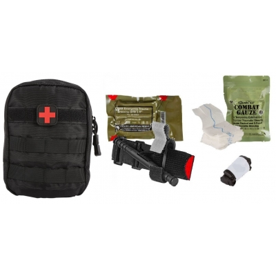 Individual Patrol Officer Kit IPOK with Molle Bag & Combat Gauze