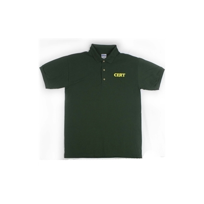 CERT Logo Embroidered Green Polo Shirt