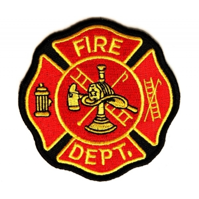 Fire Dept Patch Maltese - 3 x 3 inch
