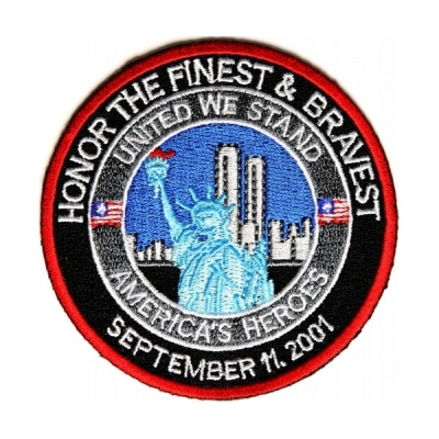 Honor The Finest and Bravest Patch - 3 x 3 inch