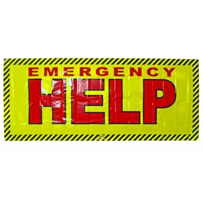Emergency Help Needed Distress Banner