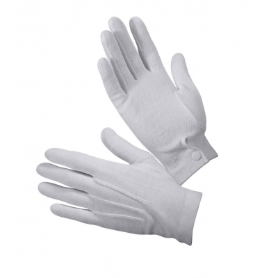 White Gripper Dot Parade Gloves