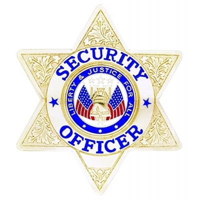 Security Officer 6 Point Star Badge