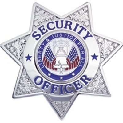Security Officer 7 Point Star Badge