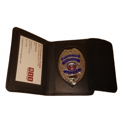 Leather Side Opening Badge Case - Dress
