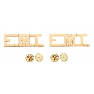 Collar Pins Insignia Letters 1/2'' E.M.T. EMT Emergency Medical