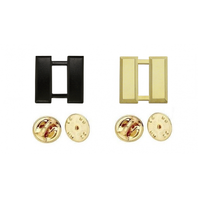 Captain Bars Collar Pins Gold or Tac Black