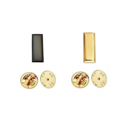 Lieuteant Bars Collar Pins Gold or Tac Black
