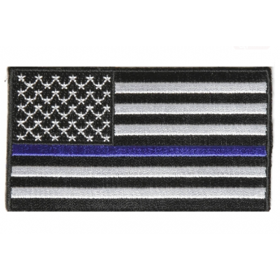 Firefighter Fire Department Thin Blue Line American Flag Patch