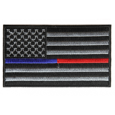 Firefighter Fire Department Thin Red & Blue Line American Flag Patch