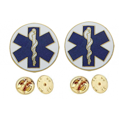 Emergency Medical Star of Life Disc Collar Insignia