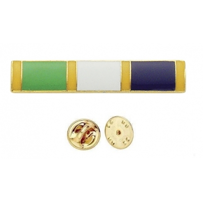 Commendation Bar Green Yellow White & Blue