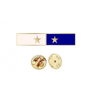 Commendation Bar Blue & White 2 Star Two