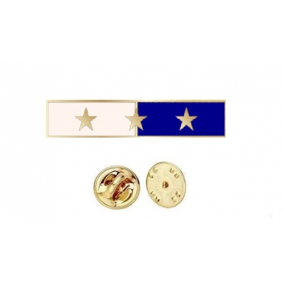 Commendation Bar Blue & White 3 Star Three