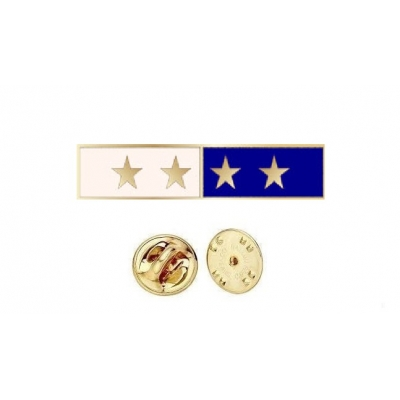 Commendation Bar Blue & White 4 Star Four