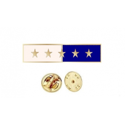 Commendation Bar Blue & White 5 Star Five