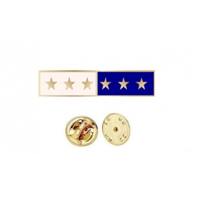 Commendation Bar Blue & White 6 Star Six