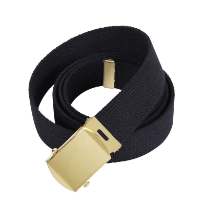 64 Inch Cotton Military Dress Web Belt 1.25