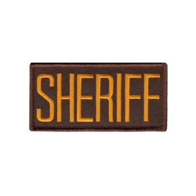 Police Front Chest Patch 2 x 4.25 Gold on Brown