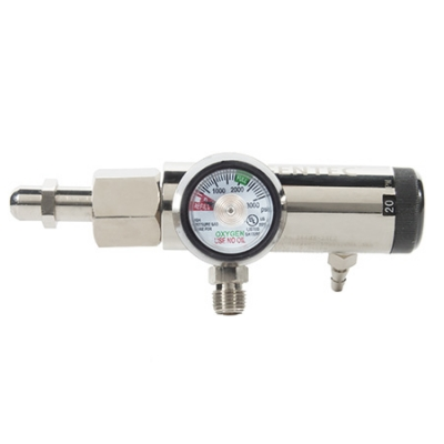 Click-Style Piston Design Oxygen Regulator 25 LPM 2 DISS