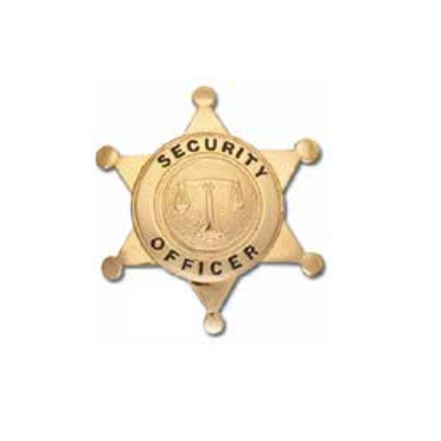 Security Officer 6-Point Star Badge Justice Scales Seal