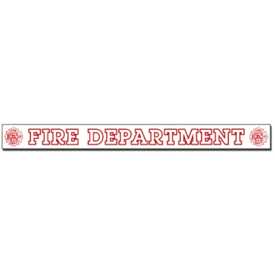 Inside Window Cling Sticker Fire Department