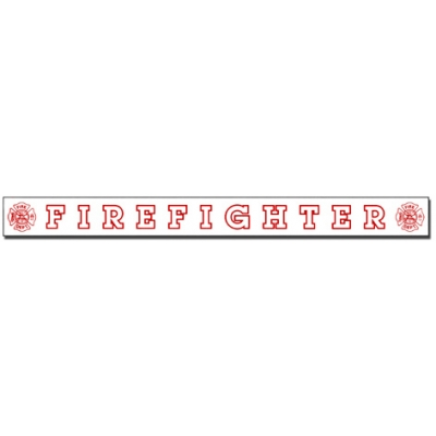 Inside Window Cling Sticker Firefighter