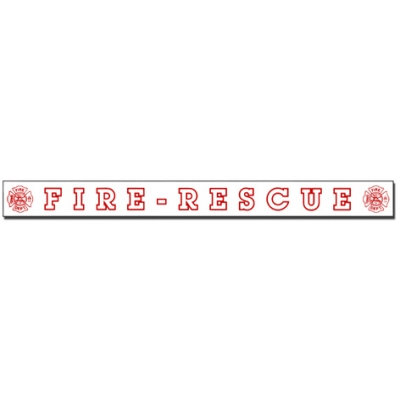Inside Window Cling Sticker Fire Rescue